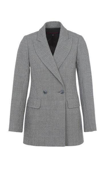 Tailored Double-Breasted Virgin Wool-Blend Jacket