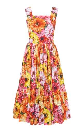 Floral Cotton Poplin Midi Dress