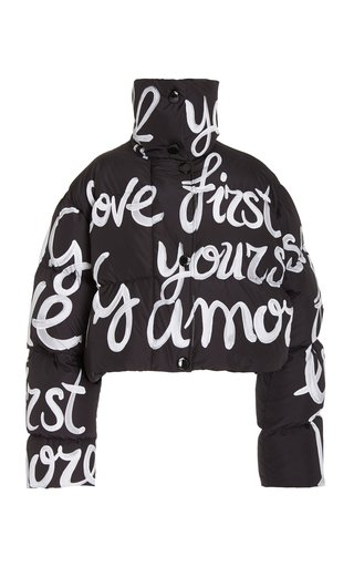 Love Yourself Cropped Down Jacket