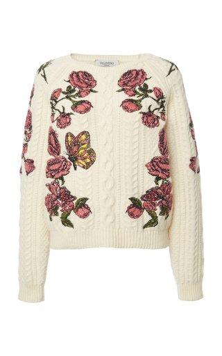 Floral Virgin Wool Sweater