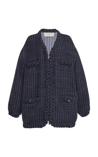 Longline Virgin Wool-Cashmere Cardigan Coat
