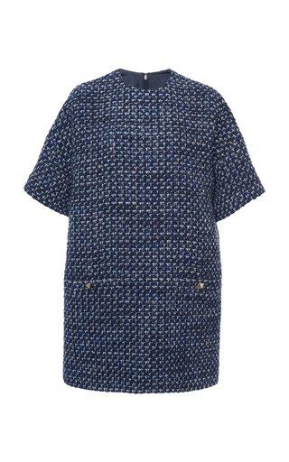 Houndstooth Stretch-Cotton Dress