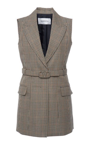 Belted Wool Mini Dress
