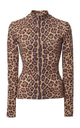 Leopard-Print Jersey Top