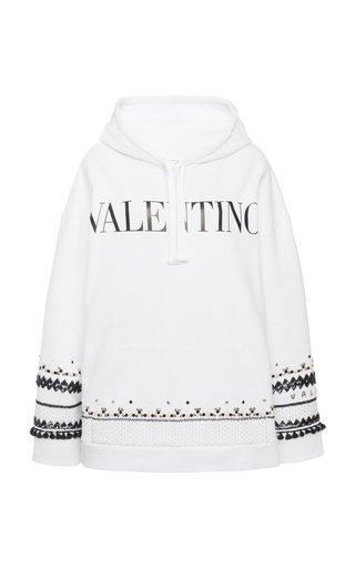 Printed Embellished Cotton Sweatshirt