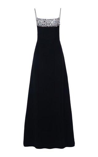 Sequin-Detailed Silk Gown