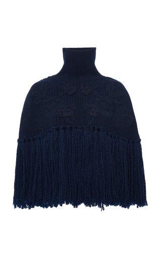 Frayed Wool Cape