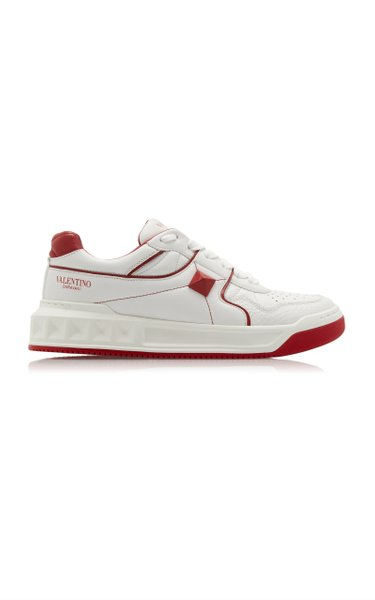 Valentino Garavani One Stud Leather Sneakers