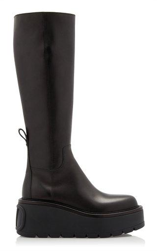 Valentino Garavani Uniqueform Knee-High Leather Boots