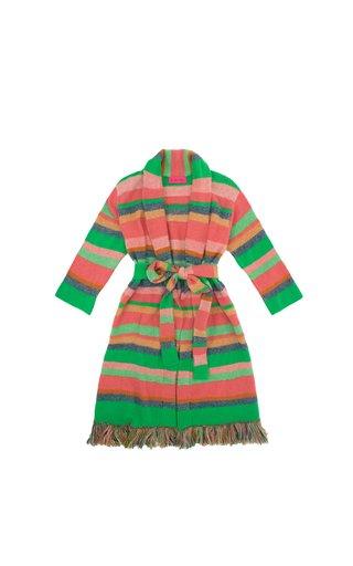 Yak Stripe Fringe Cashmere Coat