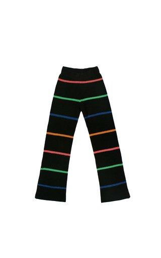 Mr. Robin Striped Slit Cashmere Flared Pants