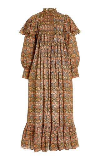 Bohemian Cotton-Blend Midi Dress