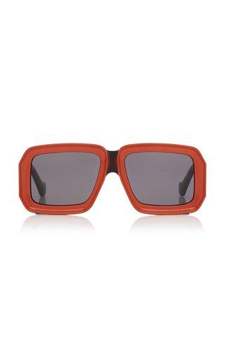 Paula's Ibiza Oversized Square-Frame Acetate Sunglasses