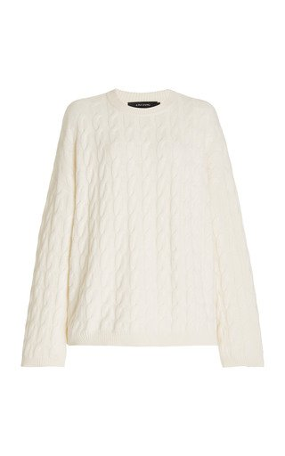 Seymour Oversized Cable-Knit Cashmere Sweater