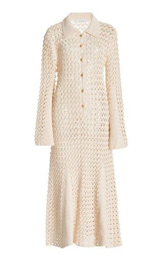 Lotus Crocheted Cotton Midi Dress