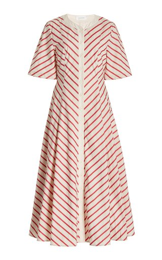Kamau Striped Organic Cotton Midi Dress