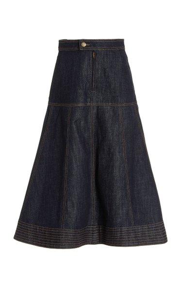 Vision Denim Midi Skirt