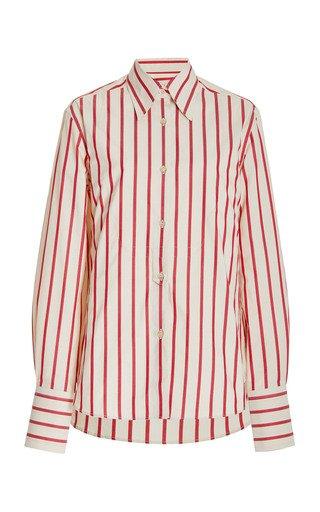 Kamau Striped Organic Cotton Shirt