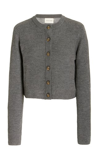 Contoy Wool-Cashmere Cropped Cardigan
