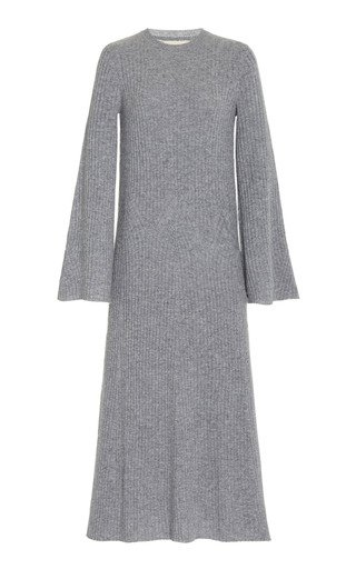 Larga Ribbed Wool-Cashmere Maxi Dress