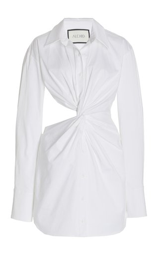 Sakari Cutout Cotton Mini Shirt Dress
