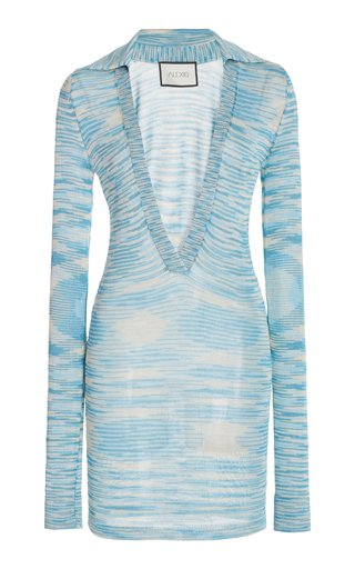 Bara Space-Dyed Knit Mini Dress