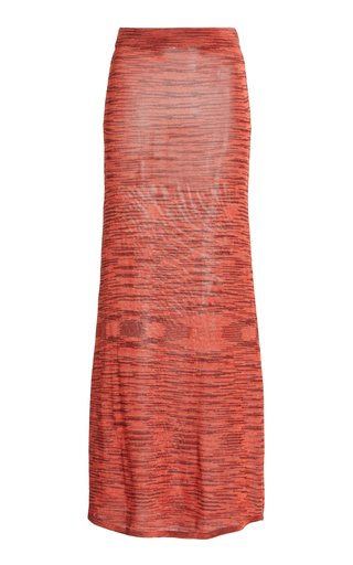 Monse Space-Dyed Knit Maxi Skirt