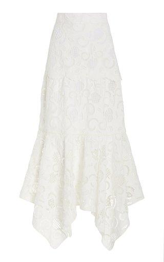 Vittoria Broderie Anglaise Maxi Skirt