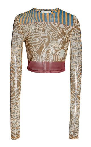 Wynne Printed Jersey Crop Top