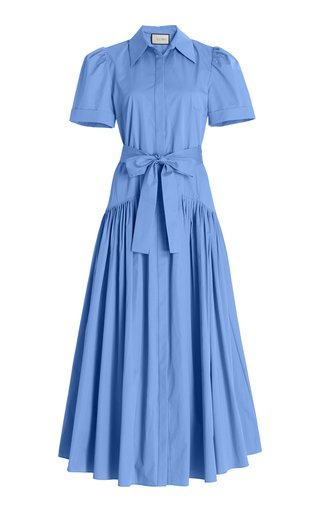 Lainly Belted Twill Midi Shirt Dress