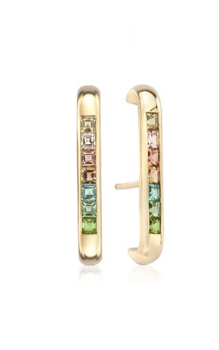 Barre 14K Yellow Gold Tourmaline Earrings