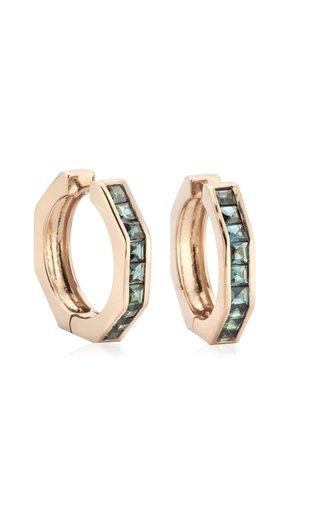 Otto Large 14K Rose Gold Tourmaline Earrings