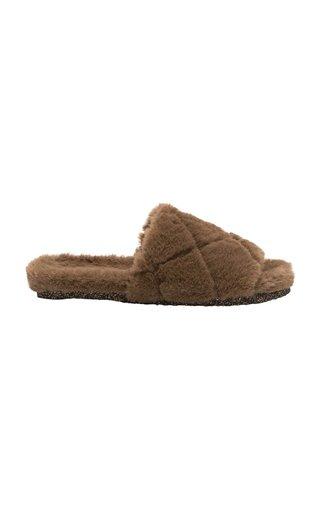 Leslie Faux Fur Slides
