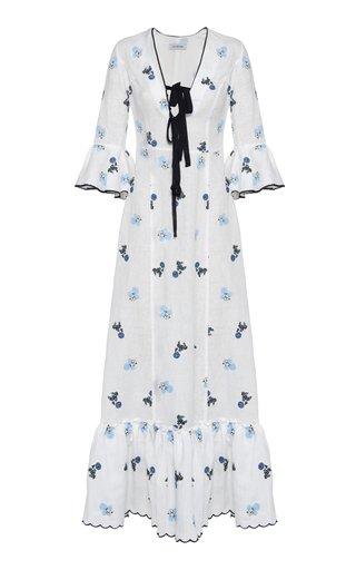 Diana Floral Linen Dress