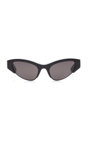 Two-Tone Acetate and Metal Cat-Eye Sunglasses