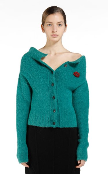 Ribbed Mohair-Blend Top
