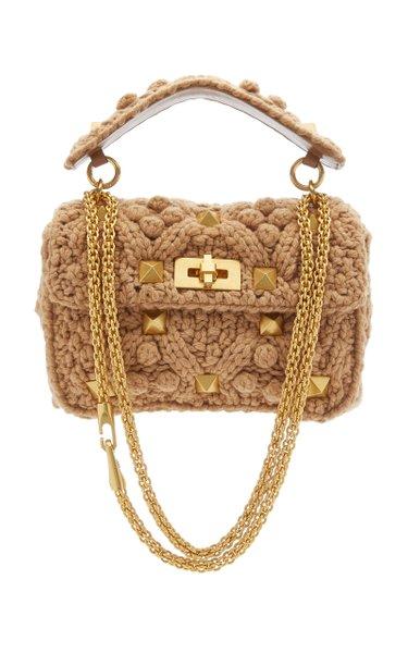 Valentino Garavani Medium Roman Stud Cashmere Bag