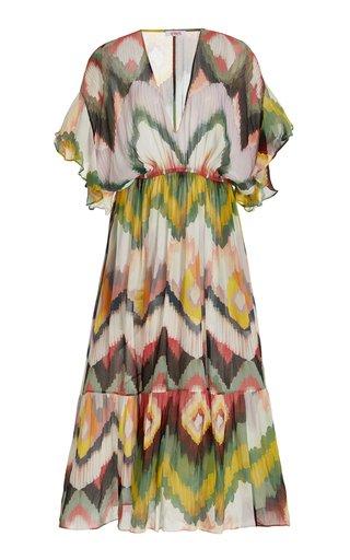 Libellule Ikat-Print Silk Cover-Up Maxi Dress