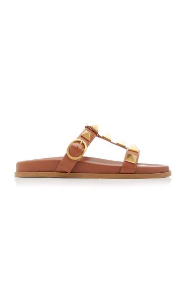 Valentino Garavani Roman Stud Leather Slide Sandals