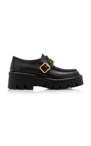 Valentino Garavani Monk-Strap Leather Loafers
