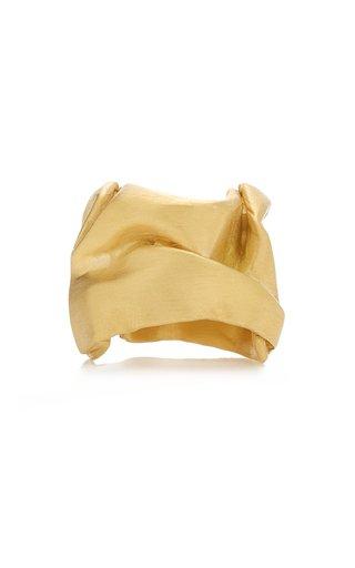 Crunched 14K Gold Vermeil Ring
