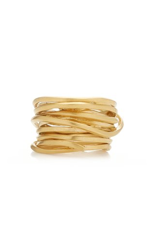 Why Am I Here and Not Somewhere Else 14K Gold Vermeil Ring