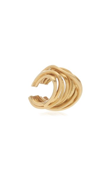 Why Am I Here and Not Somewhere Else 14K Gold Vermeil Ear Cuff