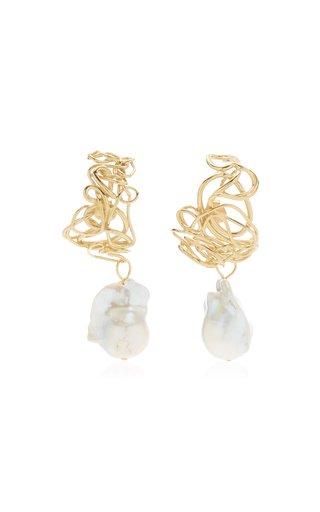 Pearl 14K Gold Vermeil Earrings
