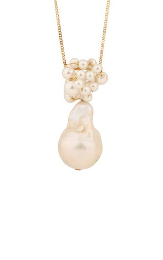 Pearl 14K Gold Plated Sterling Silver Pendant