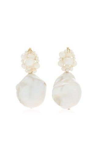 Tra-La-La Pearl 14K Gold Vermeil Earrings