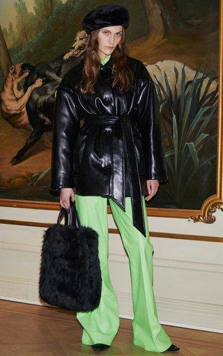Ammie Faux Leather Wrap Jacket