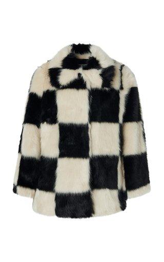 Nani Checkered Faux Fur Jacket