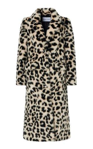 Kathy Faux Fur Printed Coat