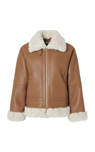 Rind Faux Shearling-Trimmed Jacket